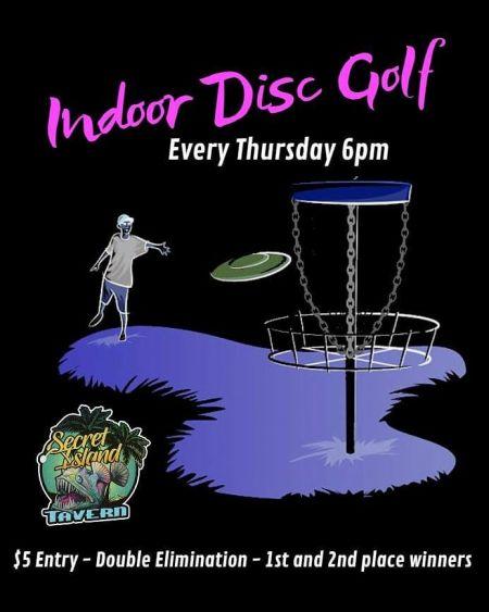 Secret Island Tavern Outer Banks, Indoor Disc Golf