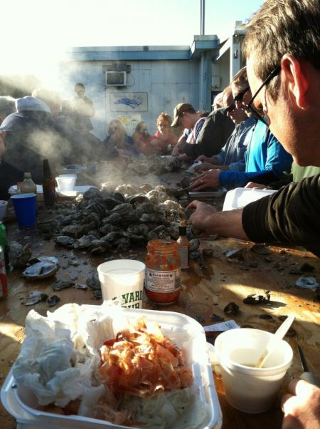 Ocracoke Village, Ocracoke Working Watermen's Association Oyster Roast & Shrimp Boil
