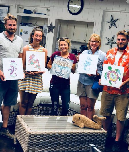 Taste of the Beach, Paint a Plank with Tea & Jam at Tommy's Natural Foods Market and Wine Shop