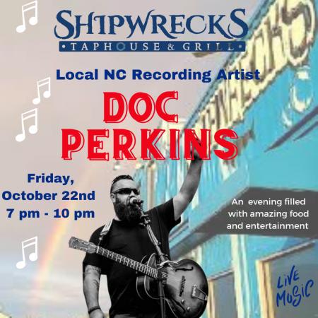 Shipwrecks Taphouse & Grill, Doc Perkins