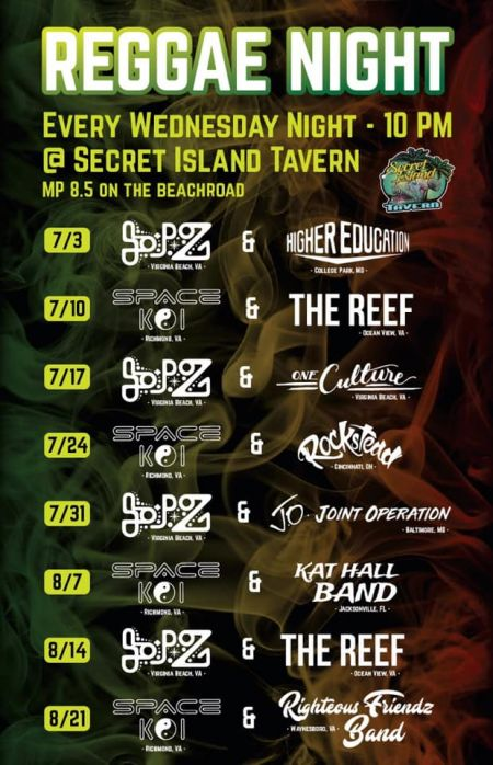 Secret Island Tavern Outer Banks, Reggae Night