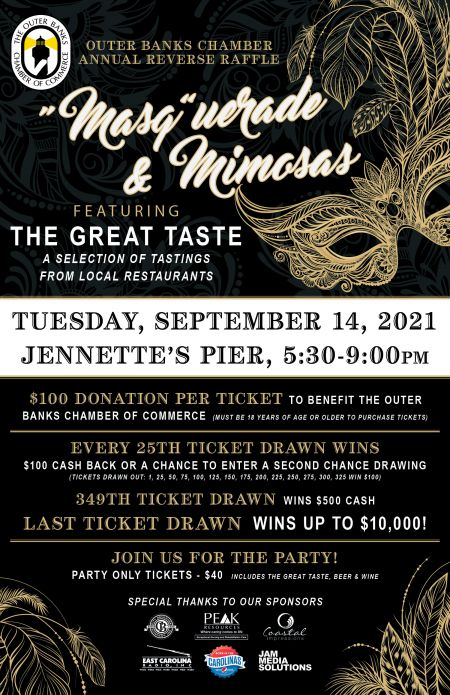 Chamber of Commerce, Masquerade & Mimosas Annual Reverse Raffle