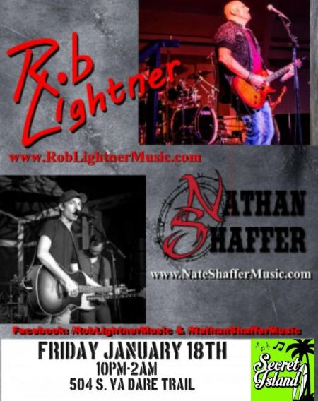 Secret Island Restaurant Outer Banks, Country Duo Rob Lightner & Nathan Shaffer
