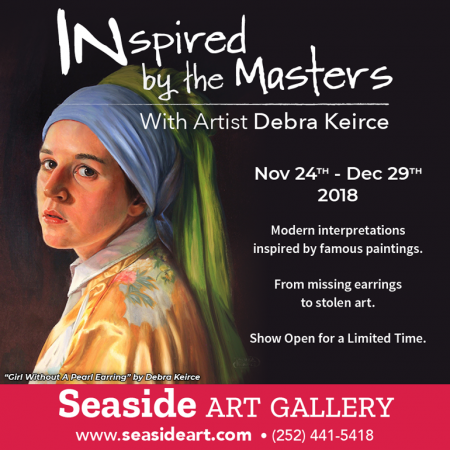 "Seaside Art Gallery, ""INspired by the Masters"" with Artists Debra Keirce"