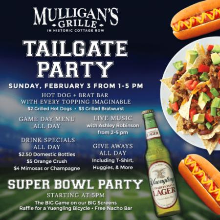 Mulligan's Grille, Super Bowl Tailgate