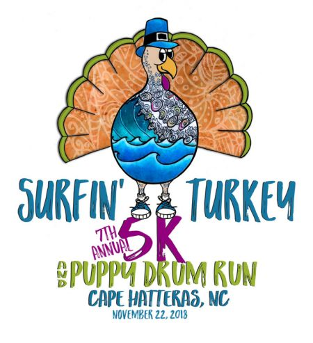 OBX Events, Annual Surfin' Turkey 5K & Puppy Drum Fun Run