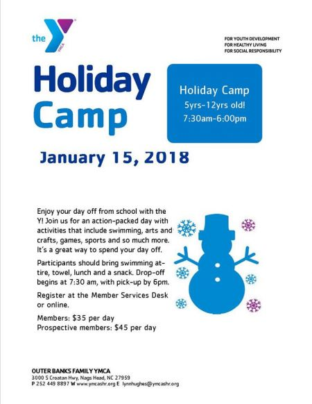 Outer Banks Family YMCA, Holiday Camp
