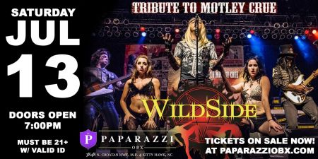 Paparazzi OBX Concert & Event Venue, WildSide: A MÖTLEY CRÜE Tribute