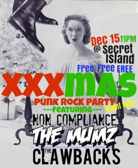 Secret Island Restaurant Outer Banks, Xmas Punk Rock Party