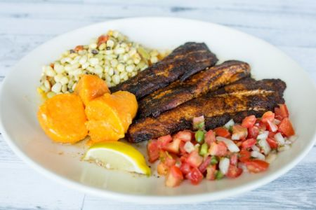 Basnight's Lone Cedar Outer Banks Seafood Restaurant, Pan Blackened Tilefish with Fresh Pico De Gallo