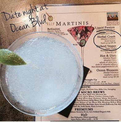 Ocean Boulevard Bistro & Martini Bar, Specialty Martinis