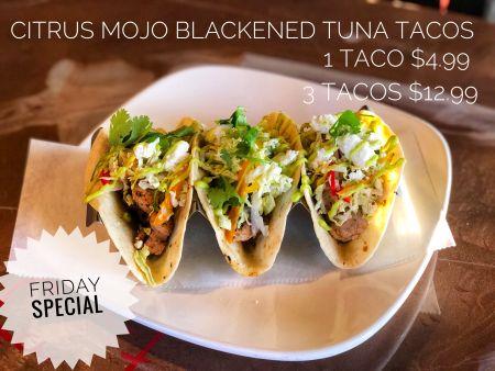 La Fogata Mexican Restaurant Kitty Hawk, Citrus Mojo Blackened Tuna Tacos