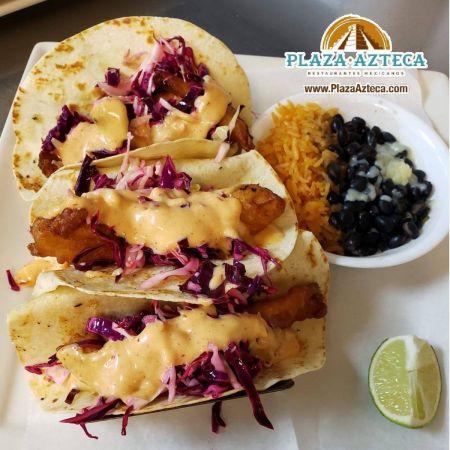 Plaza Azteca, Baja Fish Tacos