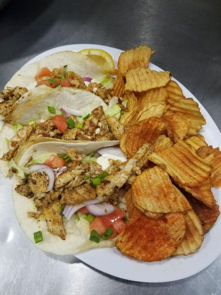 Sandbars Raw Bar & Grill Outer Banks, Blackened Mahi Tacos