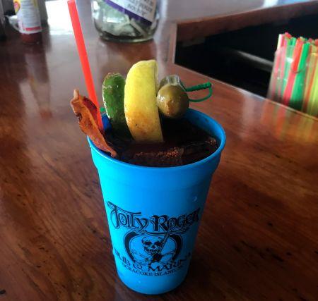 Jolly Roger Pub & Marina Ocracoke, Bawdy Bloody Mary