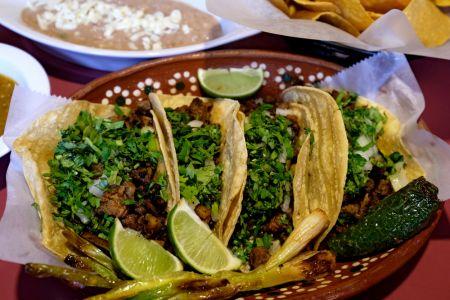 La Fogata Mexican Restaurant Kitty Hawk, Tacos de Carne Asada