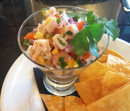 Rusty's Surf & Turf Restaurant on Hatteras Island, Sample Special: Scallop Ceviche