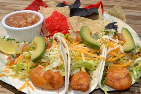 Miller's Waterfront Restaurant, Baja Fish Tacos