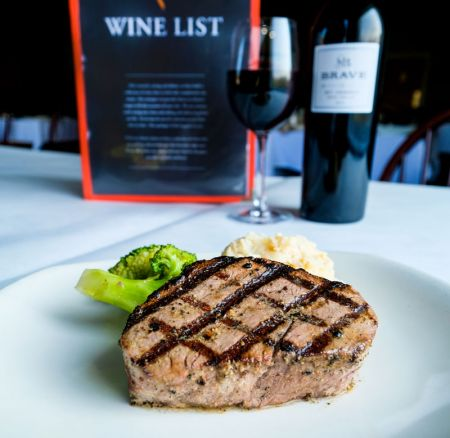 Mike Dianna's Grill Room, Hardwood Grilled Filet Mignon