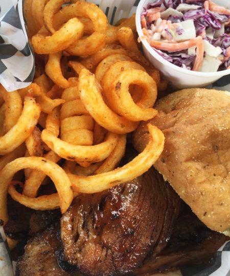 Surf'n Pig BBQ Avon Outer Banks, Beef Brisket Platter