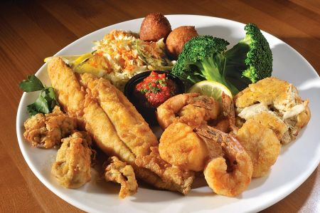 The Dunes Restaurant Nags Head, Fried Bounty of the Sea