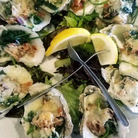 Sandbars Raw Bar & Grill Outer Banks, Oysters Rockefeller