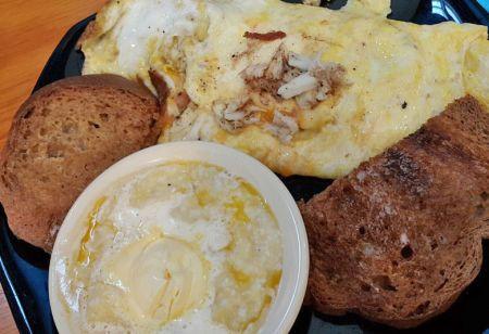 Stack'em High, Jumbo Lump Crabmeat Omelette