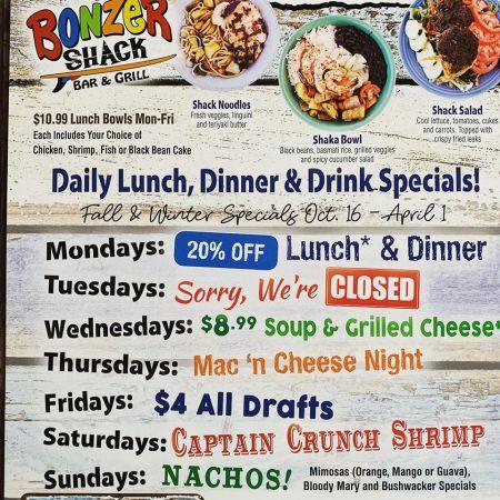 Bonzer Shack Bar & Grill, Captain Crunch Shrimp