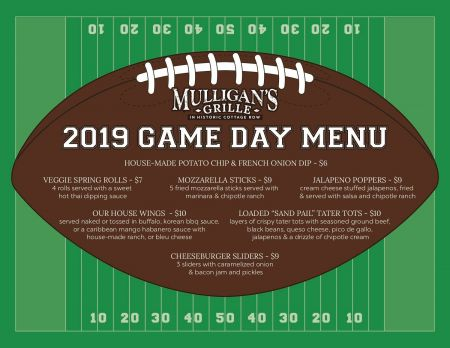 Mulligan's Grille, Game Day Specials