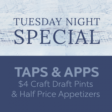 Mulligan's Grille, Tuesday Taps and Apps