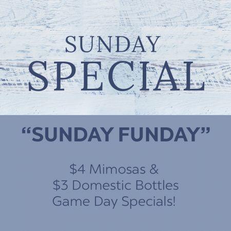 Mulligan's Grille, Sunday Funday!