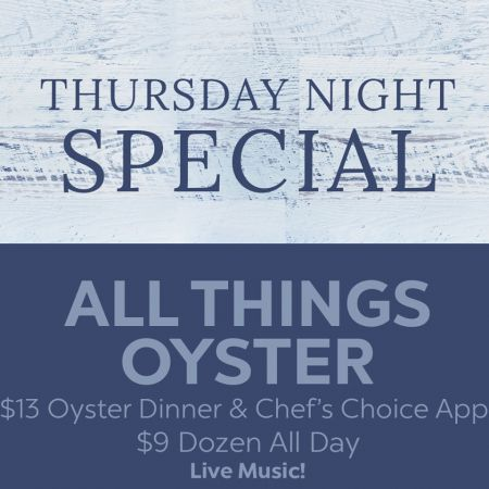 Mulligan's Grille, Thursday All Things Oyster Special