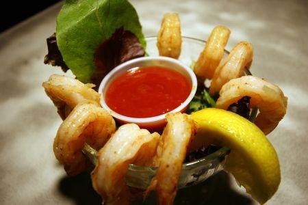Black Pelican Oceanfront Restaurant, Buffalo Shrimp Happy Hour