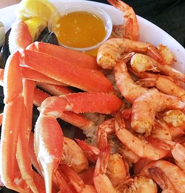 Sundogs Raw Bar and Grill, Happy Hour Shrimp & Crab Legs