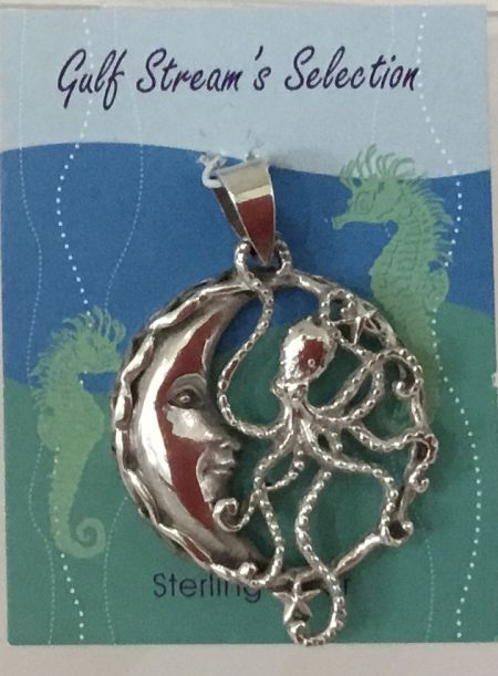 Gulf Stream Gifts, Octopus and Moon pendant