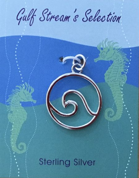 Gulf Stream Gifts, Wave (medium) pendant