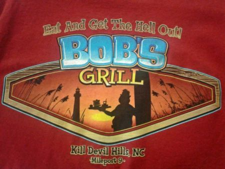Bob's Grill Outer Banks Restaurant, Bob's Signature Tee