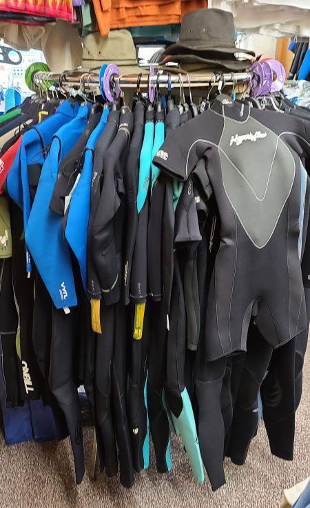 Cavalier Surf Shop, Wet Suits