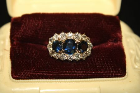 Muzzie's Fine Jewelry & Gifts, Sapphire Diamond Ring