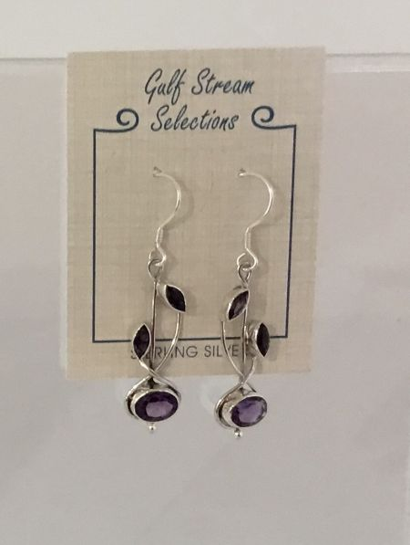 Gulf Stream Gifts, Amethyst Earrings