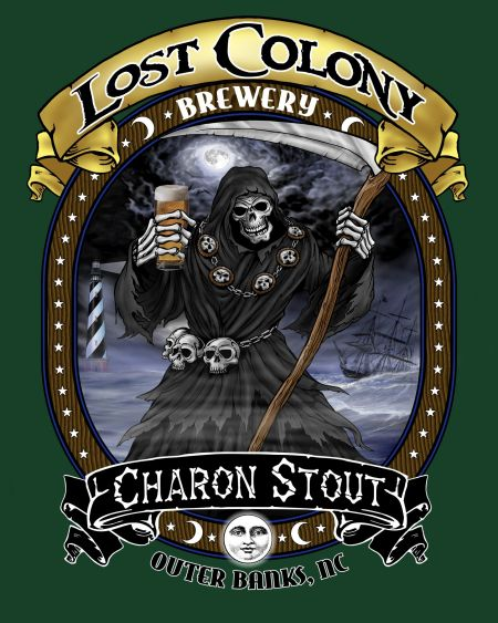 Lost Colony Brewery and Cafe, Charon Stout T-Shirt