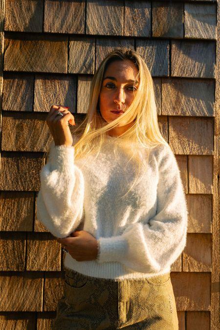 Foxy Flamingo Boutique, Snow Bunny Sweater