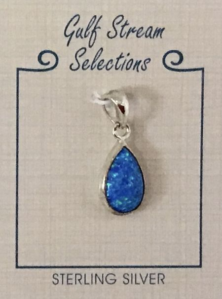 Gulf Stream Gifts, Lab opal teardrop pendant