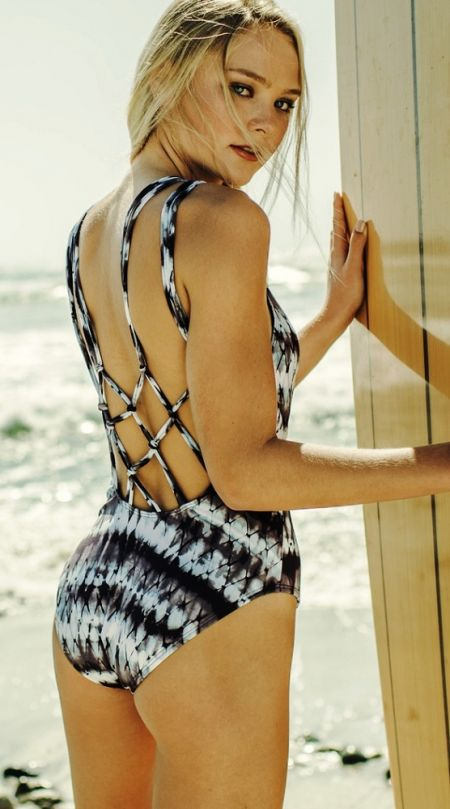 Birthday Suits, Hobie Tie-Dyemonds Macrame One Piece
