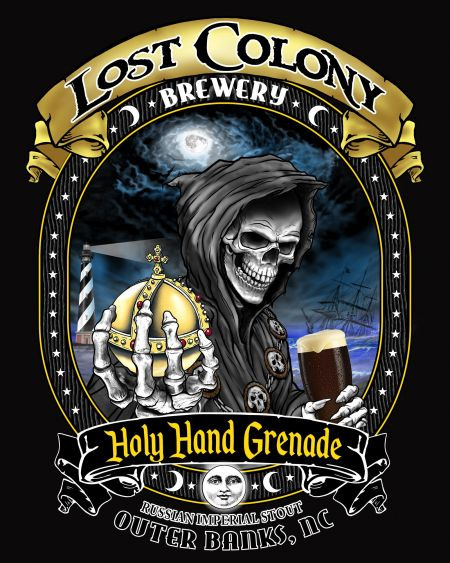 Lost Colony Brewery and Cafe, Holy Hand Grenade T-Shirt