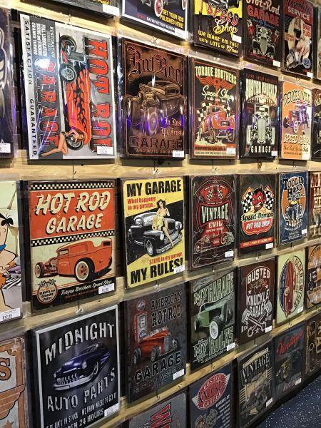 Gift Garden & American Classics Garage, American Classics Garage Signs