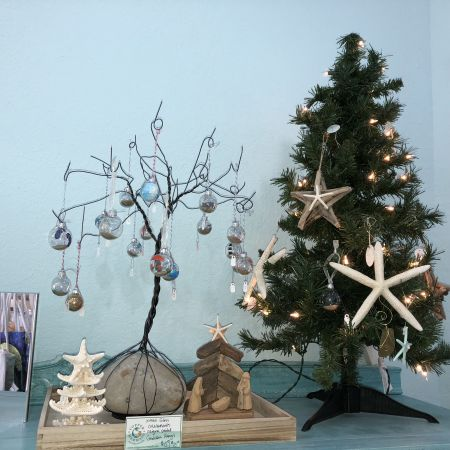 Copper Mermaid Art Gallery & Gifts Nags Head, Outer Banks Christmas Ornaments