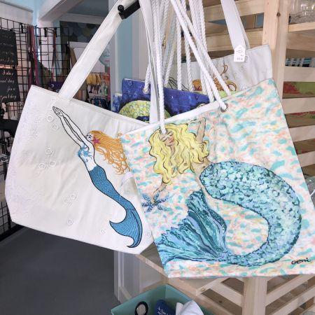 Copper Mermaid Art Gallery & Gifts Nags Head, Mermaid Bags