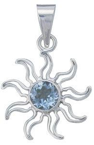 Gulf Stream Gifts, Blue Topaz Sun Pendant by Charles Albert