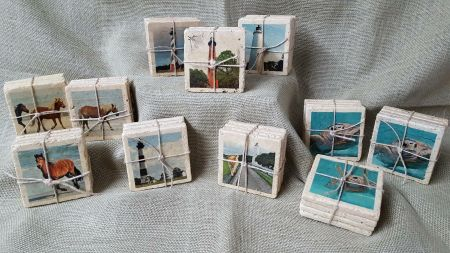 Copper Mermaid Art Gallery & Gifts Nags Head, Outer Banks Photo Coasters